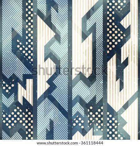 Blue cloth seamless pattern.