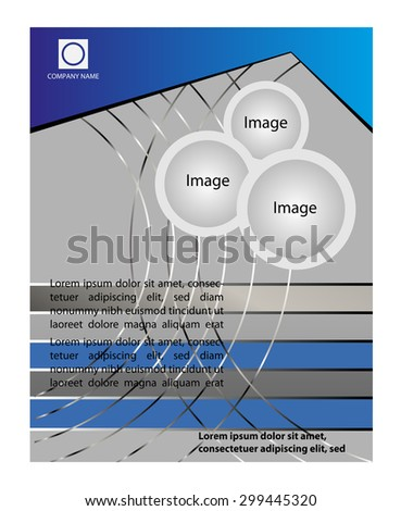 Blue color background with space for your message  - stock vector