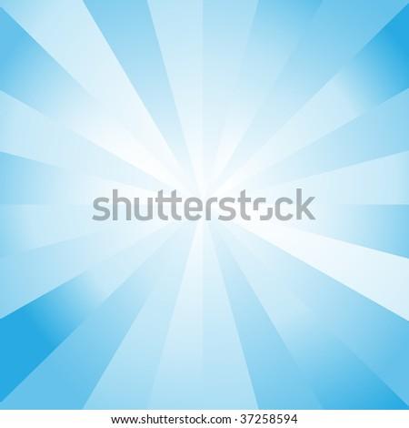 Blue Color Burst - stock vector