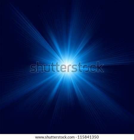 Blue color design with a burst. EPS 8 vector file included - stock vector