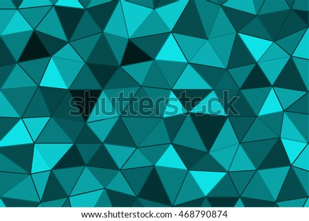 blue color triangle mosaic pattern. vector illustration. polygonal theme. for design business template, wallpaper, presentation, cover brochure