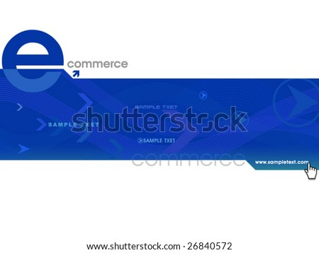 Blue color website template,vector - stock vector