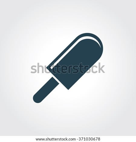 Blue Colored Icon of Ice Candy On Gray Color Background. Eps-10. - stock vector