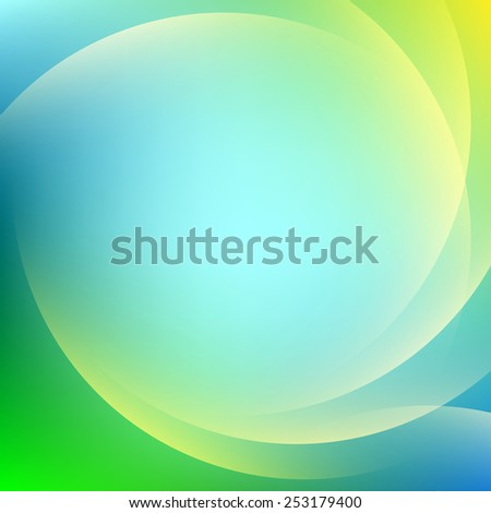 Blue colorful light gradient abstract background - stock vector