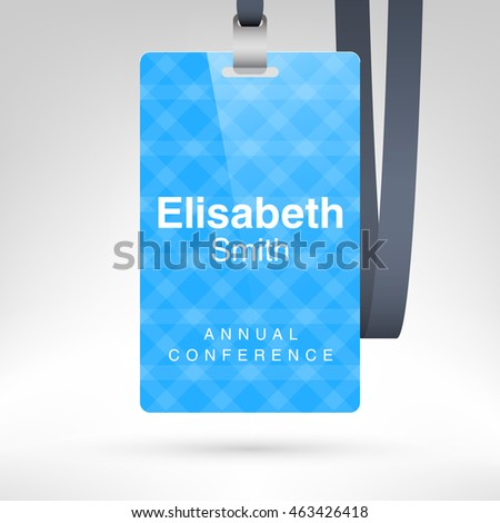 event name tag template - conference badge name tag placeholder blank