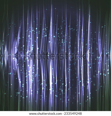 Blue cosmic light abstract bright background with lights - stock vector