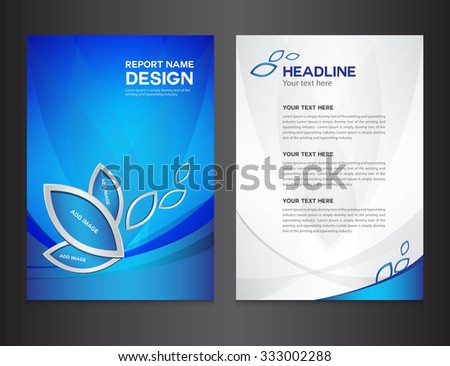 Blue Cover Annual report design vector illustration, brochure flyer, booklet, leaflet, company profile, newsletter, presentation, catalog, magazine ads - stock vector