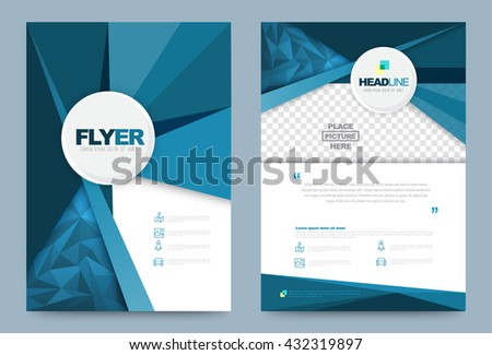 Blue Cover Layout Design Template A4 size design,   Vector illustration. Business data report, annual, presentation, web page, brochure, leaflet, flyer, poster and advertising.