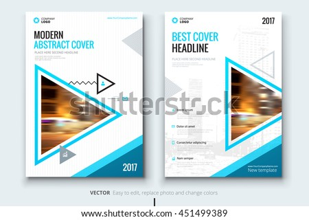 Nice Blue Cover Page Design. Corporate Business Template For Brochure, Annual  Report, Catalog,  Annual Report Cover Page Template