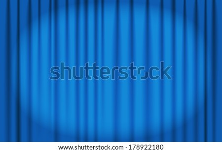 blue curtain vector with spot light