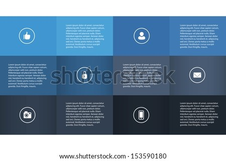 Blue 3D Infographics / EPS10 Vector Illustration / - stock vector