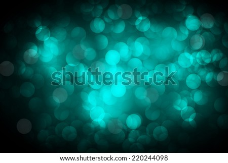 Blue Defocused Light, Flickering Lights, Vector abstract festive background with bokeh defocused lights.