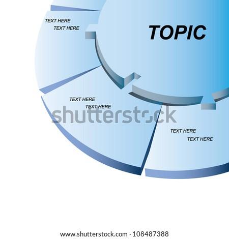 blue diagram - stock vector