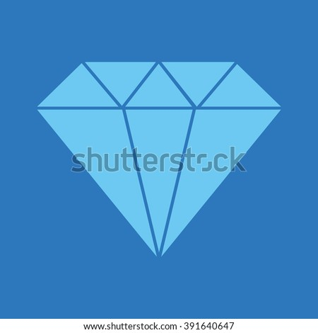 Blue diamond vector illustration