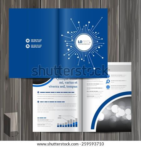 Blue Digital Brochure Template Design Optical Stock Vector - Digital brochure templates