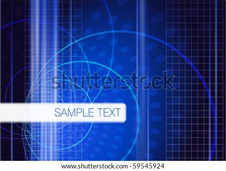 Blue digital vector abstract.