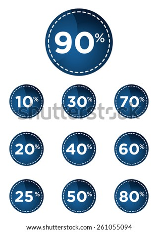 Blue discount prices label vector illustration - stock vector