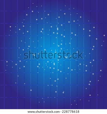 Blue Dots grid background vector - stock vector