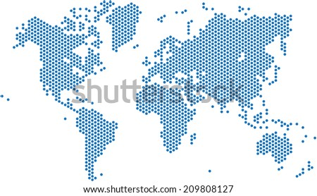 Circle Map Stock Images RoyaltyFree Images Vectors Shutterstock - Cool us map with dots