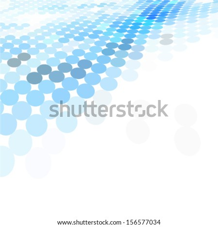 blue dotted perspective background. ideal for brochure cover or business concept works - stock vector