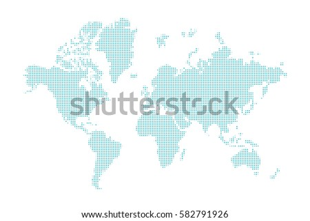 Blue dotted world map vector design vectores en stock 582791926 blue dotted world map vector design element on white background gumiabroncs Images