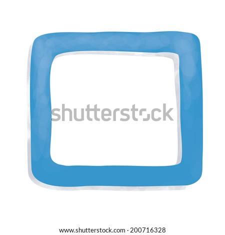 Blue drawing frame, vector