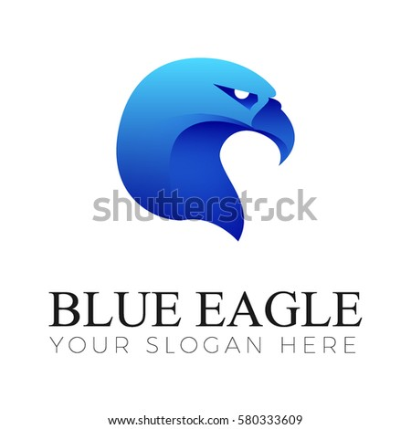 blue eagle logo stock vector 580333609 - shutterstock