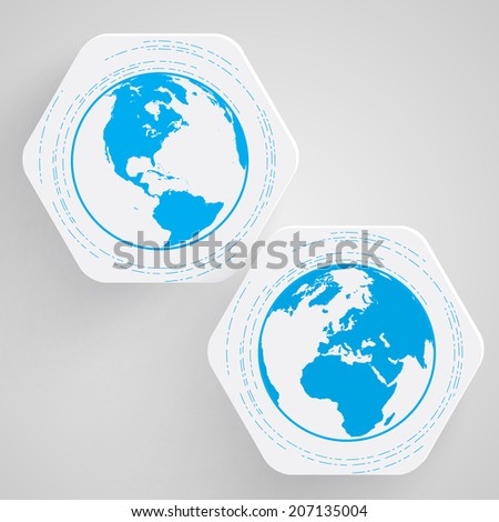 Blue Earth vector symbol - stock vector
