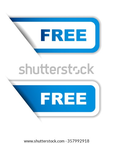 Blue easy vector illustration isolated horizontal banner free two versions. This element is well adapted to web design. - stock vector