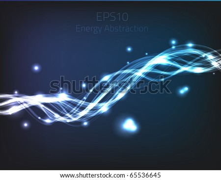 Blue energy abstraction for your design. Fully vector, enjoy! - stock vector
