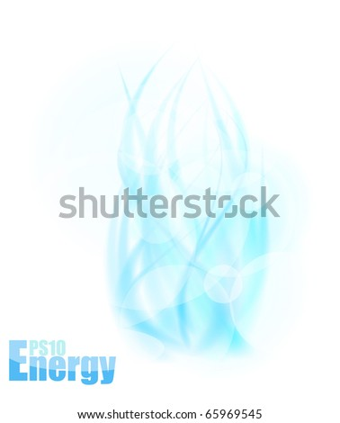 Blue energy concept template. Vector illustration - stock vector