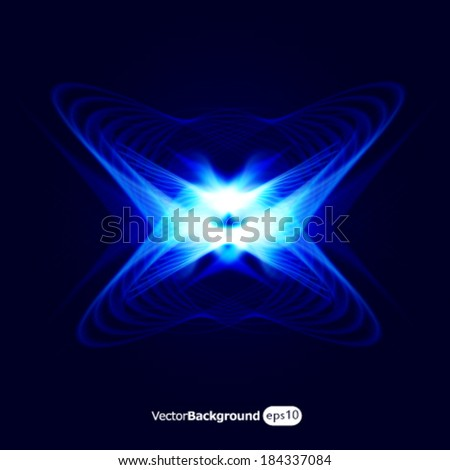 Blue energy symbol. - stock vector
