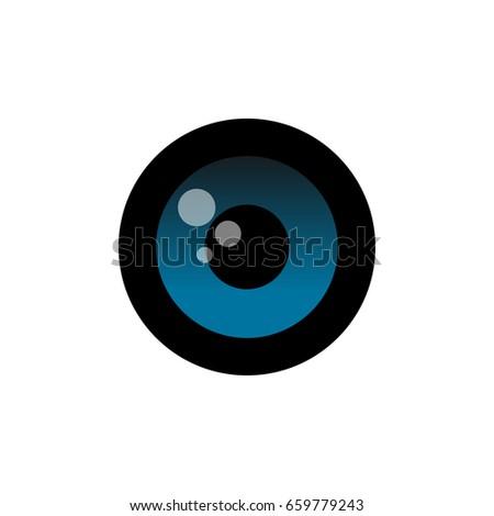 Blue Eye Logo Stock Vector 659779243 Shutterstock