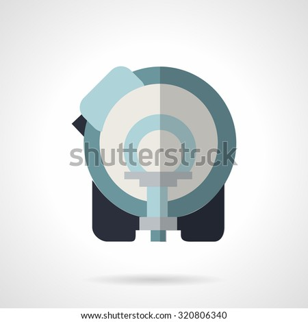 Blue flat color style vector icon for MRI. Medical diagnostic equipment. Design symbols for website and business. - stock vector
