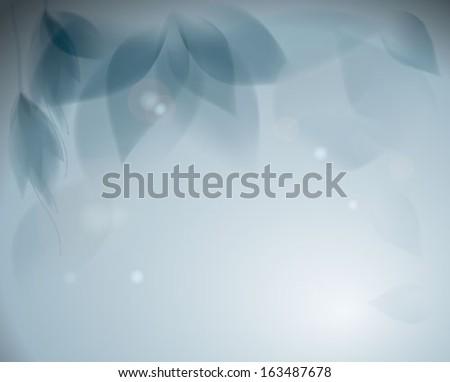Blue flowers / Romantic monochrome background - stock vector