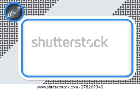 Blue frame for your text and graph - stock vector