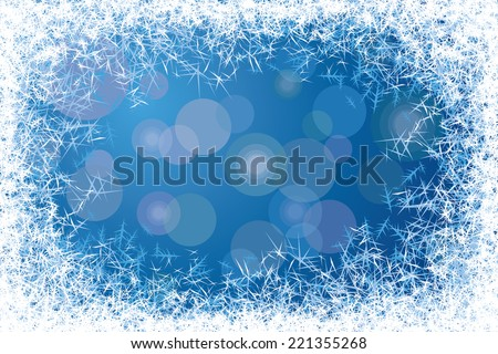 Blue frosted window. Eps8. CMYK. Organized by layers. Gradients used. - stock vector