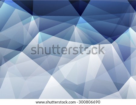 Blue geometric pattern, triangles background, polygonal design. Vector EPS 10 illustration.  - stock vector