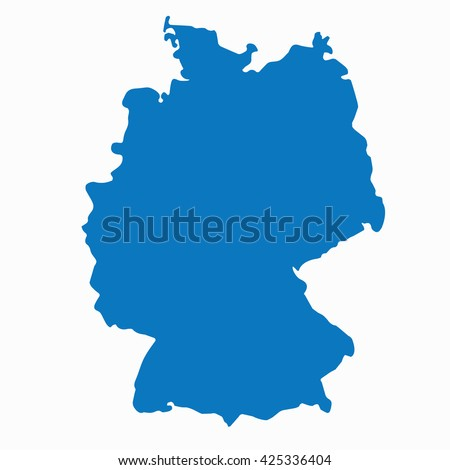 Germany Map Stock Images RoyaltyFree Images Vectors Shutterstock - Germany map outline