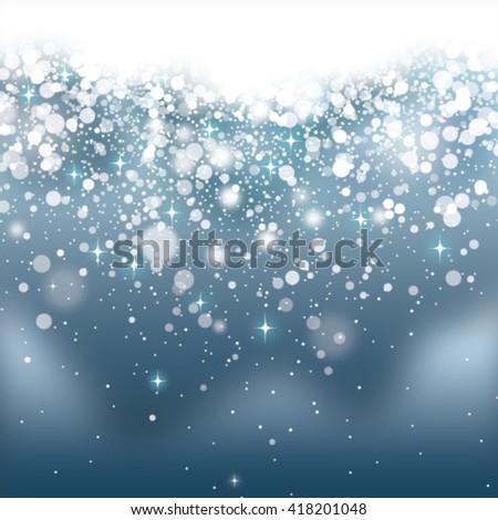 blue glittering background - stock vector