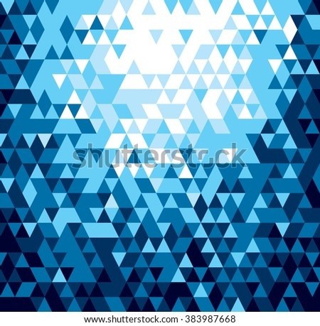 Blue Glittering Background. Abstract Illustration. - stock vector