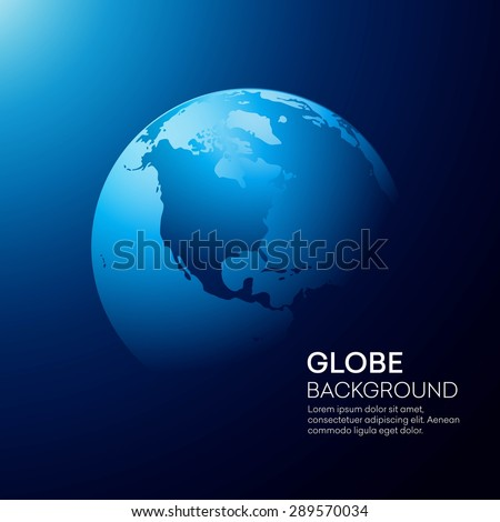 Blue globe earth background. Vector illustration EPS 10 - stock vector
