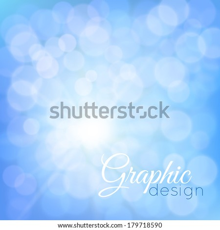 blue glowing background bokeh - stock vector