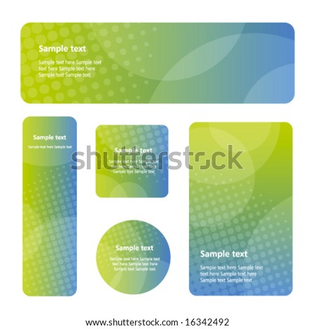 Blue Green abstract backgrounds - trendy business website  template with copy space Contemporary texture - stock vector