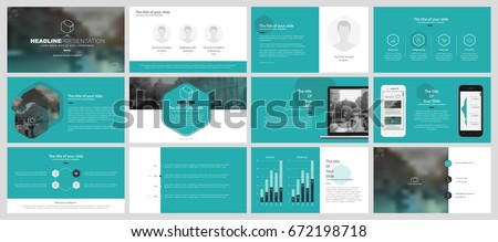 Blue-green elements of infographics on a white background. Use in presentation templates, flyer and leaflet, corporate report, marketing, advertising, annual report and banner.