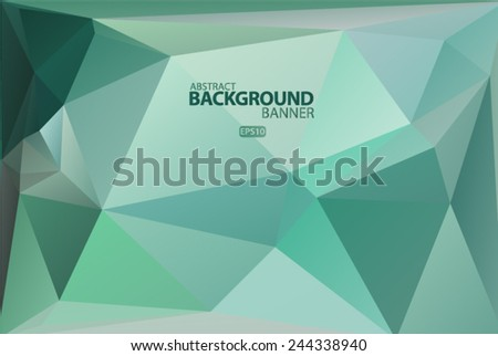 Blue, green geometric pattern, triangles background, polygonal design. Vector EPS 10 illustration. - stock vector