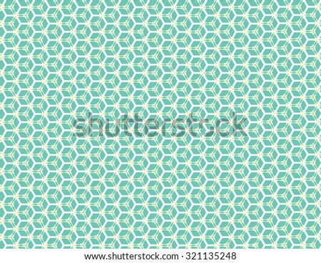 Blue green honey comb pattern over white background - stock vector