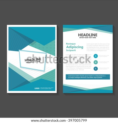 Blue Green Vector Leaflet Brochure Flyer Stock Photo Photo Vector