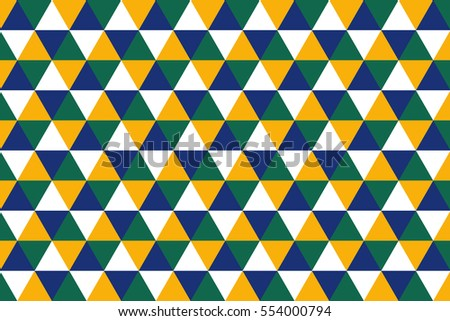 Blue Green Yellow Triangle Geometric Background Texture