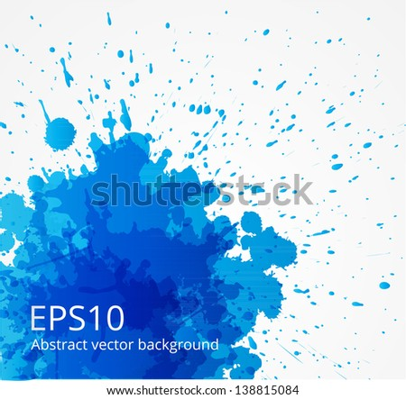 Blue grunge background. Vector illustration. - stock vector